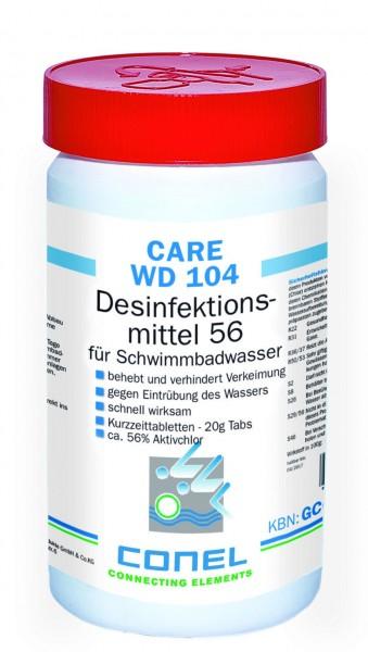 CARE WD 104 Clearwater 56 Aktivchlor 1kg Dose Desinfektionsmittel-Tabs 20g CONEL