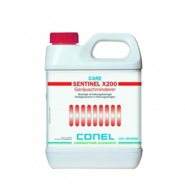 CARE Kesselstein-Lösungsmittel X200 und Geräuschminimierer 1 Liter CONEL