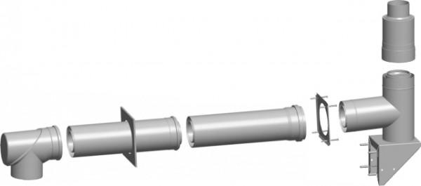 Wolf Bausatz C53x Abgasleitung Fassade (Außenwand) DN110/160 raumluftunabhängig