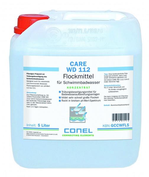 CARE WD 112 Clearwater Flockmittel 1 Ltr Flasche Flüssig-Konzentrat CONEL