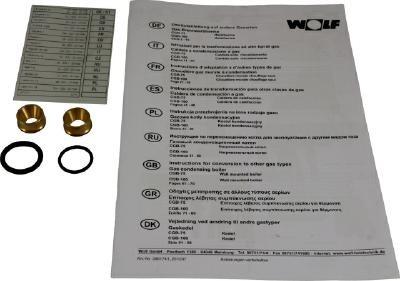 Wolf Umrüstsatz Erdgas E/H - LL für CGB-75/100