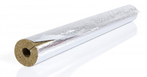 Isolierschale FLEX WOOL 1000mm 64/70mm m.gitternetzverst. Aluminium-Folie CONEL