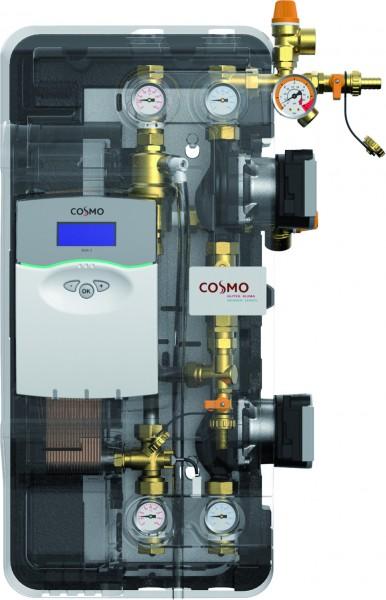 COSMO Solar-Übergabestation bis 20qm inkl. Regler Multi2 und HE-Pumpen