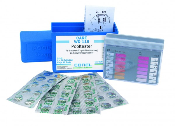 CARE WD 119 Clearwater Pooltester-Box z.Bestimmung pH- u.Sauerstoffwert CONEL
